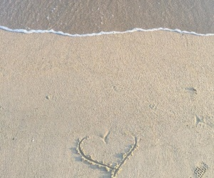 aesthetic, heart, and sand image