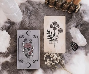 cards, crystal, and magic image