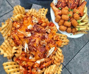 fries, tots, and buffalo wings image