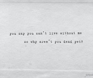 dead, Lyrics, and music image