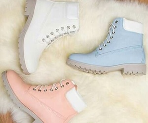 blue, pink, and shoes image