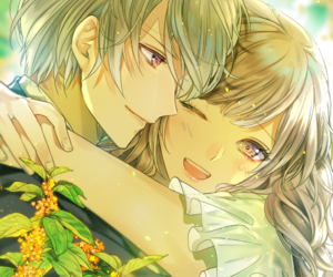 anime, couple, and otome image