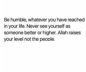 yourself, be humble, and الله image