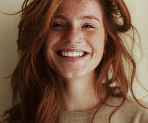 freckles, ginger, and girl image