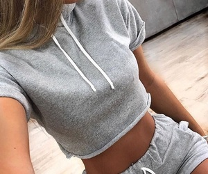 fashion, grey, and outfit image