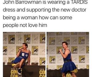 doctor who, john barrowman, and tardis image