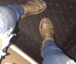 glitter, sandals, and shoes image