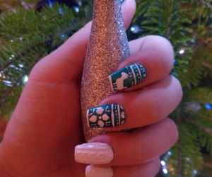 christmas, nails, and sparkle image