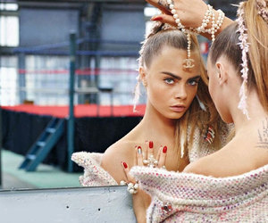 beauty, cara delevinge, and chanel image