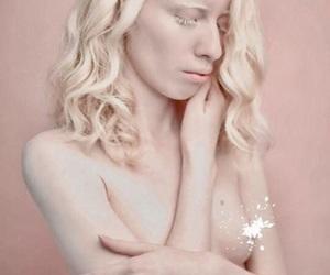albino, blonde, and female image