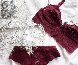 fashion, red, and lingerie image