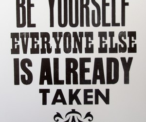 be yourself and quote image