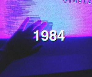 1984, aesthetic, and blue image