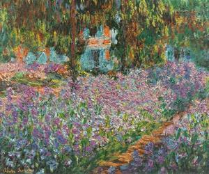 claude monet and garden image