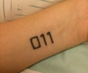 eleven, tattoo, and 011 image