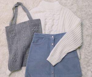 bag, skirt, and blue image