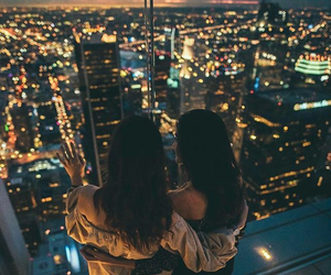 brunette, perfect, and city at night image