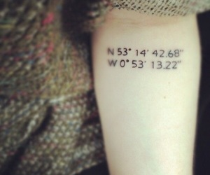coordinates, tattoo, and Tattoos image