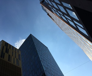 blue, building, and sky image