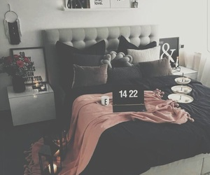bedroom, relax, and black image
