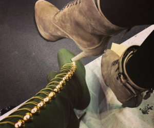 boots, kendall jenner, and fashion image
