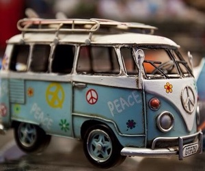 hippie, peace and love, and vw image