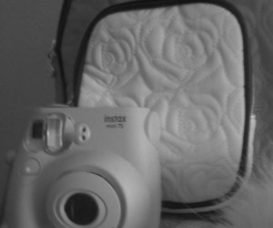 black and white, poloroid, and cute image