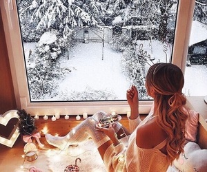 chill, girl, and holidays image