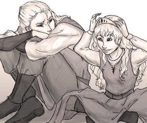 game of thrones, viserys targaryen, and daenerys targaryen image
