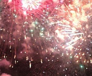 fireworks, lights, and make a wish image