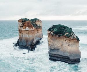 aesthetic, rocks, and beach image