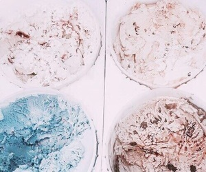 ice cream, theme, and blue image