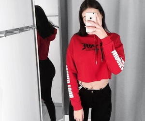 fashion, hm, and red image