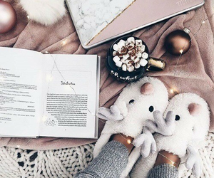 book, cozy, and yummy image