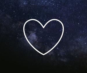 amor, black, and galaxy image