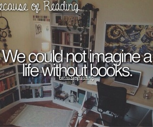 books and because of reading... image