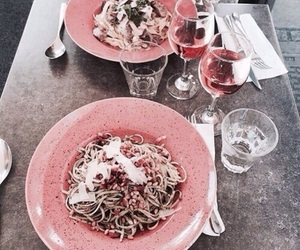 couple, dinner, and wine image