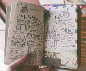 diary, europe, and drawing image