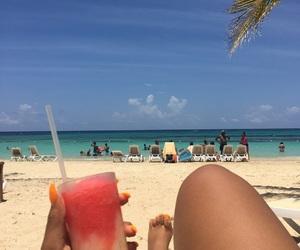 beach, jamaica, and travel image