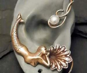 earring, sing, and golden image