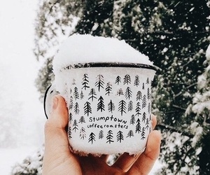 christmas, cup, and snow image