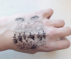 drawing, art, and hand image