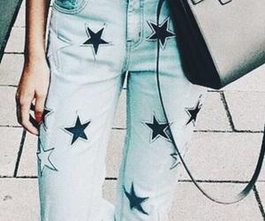 blue, fashion, and stars image