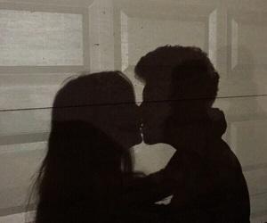 couple, shadows, and kiss image