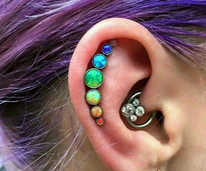 piercing and purple image