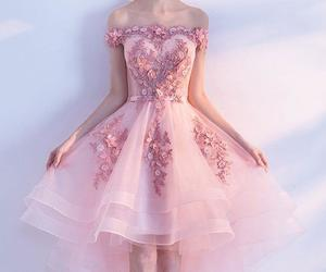 prom dresses, cute prom dress, and prom dress lace image
