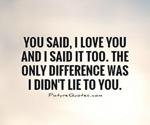 lie, love, and quotes image