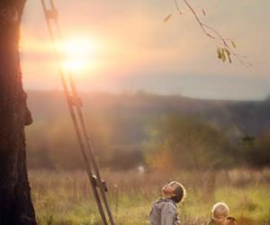 childhood, innocence, and tree image