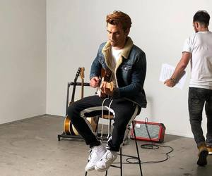 guitar, redhead, and handsome image