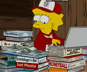 lisa, book, and simpsons image